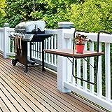 Greensen Hängetisch Balkon Kleine Klapptisch Balkon Tisch Holz Balkontisch Gartentisch Balkonhängetisch Faltbares Wandmontage Outdoor-Tisch für Frühstück, Balkon, Garten, Braun