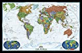 National Geographic: World Decorator Enlarged Wall Map - Laminated (73 x 48 inches) (National Geographic Reference Map)