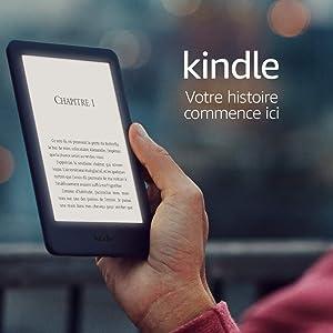Kindle, maintenant avec un éclairage frontal intégré - Avec publicités, Noir