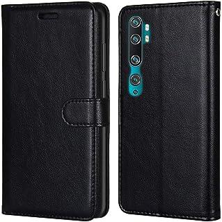 Laybomo Carcasa para Xiaomi Mi CC9 Pro Tapa Funda Cuero Estilo-Sencillo Monederos Billetera Bolsa Magnética Protector Sili...