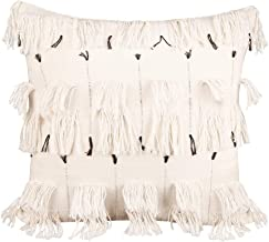Merrycolor Woven Boho Throw Pillow Covers with Tassel 18x18 Inches Tufted Decorative Cushion Cover for Couch Moroccan Styl...