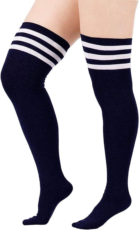 DRESHOW Donna Extra Lunghi Calzini da Ginocchio Coscia Alta Calze Stivali Calze Sopra il Ginocchio Calze
