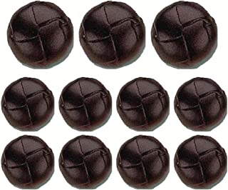 dark brown leather buttons