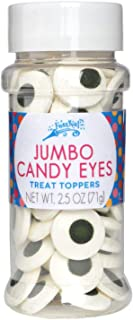 Jumbo Candy Eye Toppers - Edible Baking Decorations - Funny Googly Eyes for Cupcakes, Cakes, Cookies, Brownies - Halloween, Easter, and Edible Art Project Candy (2.5oz Jumbo Eye Candy, 2pk)