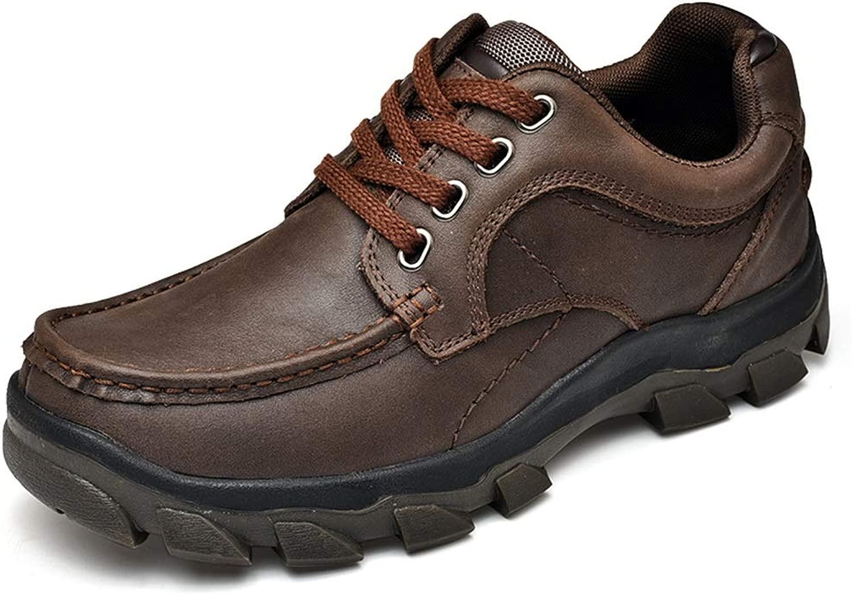 Herren Oxford Runde Spitze Schnüren Sie Sich Oben im Freien Freizeitschuhe,Grille Schuhe (Farbe   Dunkelbraun, Größe   42 EU)
