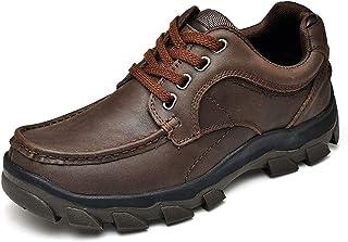 [CHENJUAN] 靴メンズファッションオックスフォードラウンドトゥレースアップ厚底アウトドアレジャーシューズ