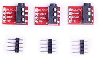 Cylewet 3Pcs TRRS 3.5mm Stereo Audio Jack Breakout Board Headphone Video MP3 Jack for Arduino (Pack of 3) CYT1031