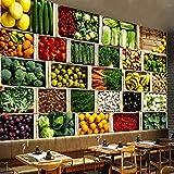 Carta da parati personalizzata Murale 3D Frutta Verdura Foto Carta da parati Supermercato Sfondo per negozio di frutta Decorazione murale moderna Pittura ecologica-400 * 280 cm