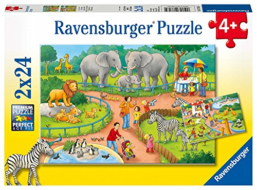 Ravensburger Kinderpuzzle 07813 - Ein Tag im Zoo - 2 x 24 Teile