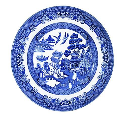 "Churchill China Blue Willow Jantar, Louças, Blue Willow, Salad Plate 8"""
