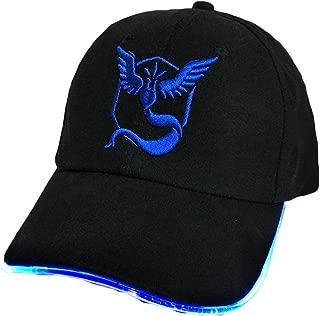 King Ma Unisex Team GO Theme LED Light Up Hat Embroidered Team Mystic Inspired Baseball Cap