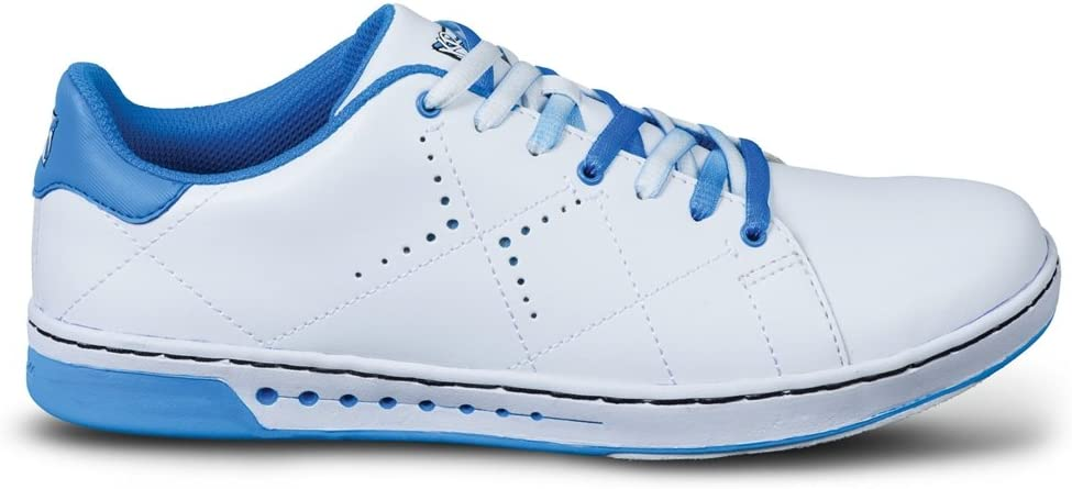 KR Strikeforce Bowling Shoes Youth Girls Gem Bowling Shoes- White/Blue