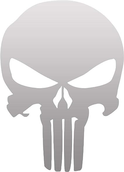 Punisher Aufkleber Auto Sticker Autosticker Autoaufkleber Decal War Zone Totenkopf Skull 10 X 14 Cm Chrome Glänzend Küche Haushalt