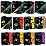 Hydro Herbal, Hookah Shisha Flavors, Tobacco & Nicotine Free, Fruit Variety Pack, 50-Gram (Pack of 12)