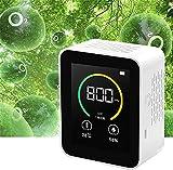 TONG CO2 Monitor de Calidad del Aire Monitor de Humedad y Temperatura Contaminación Interior LCD Pantalla de Color Dióxido de Carbono Detector de Gas de Aire Multifuncional Conveniencia