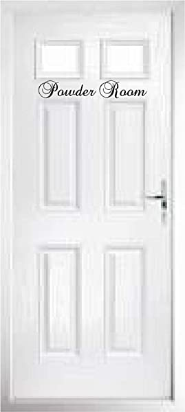 Walls With Style Door Decals Pantry La Cuisine Les Toilettes Powder Room Stickers Powder Room 15 Long By 2 8 Tall