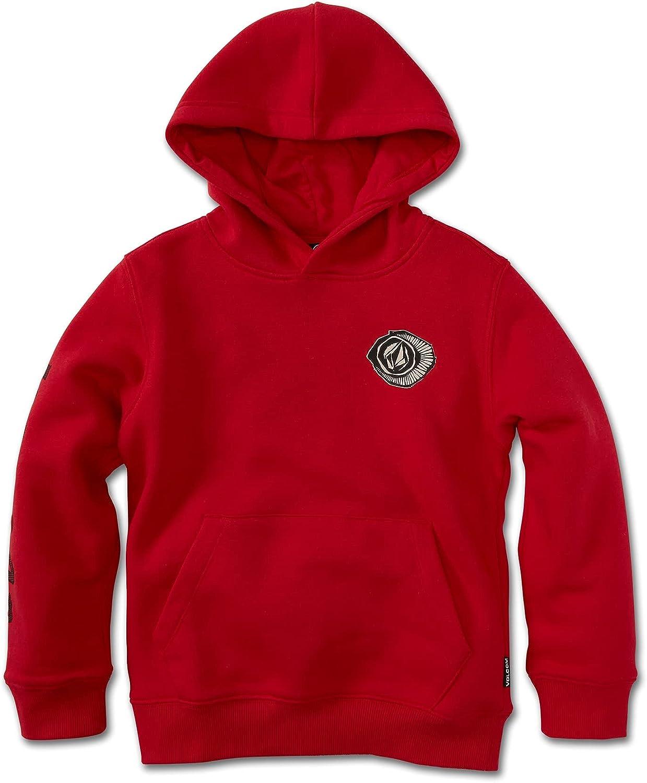 Volcom Logo Pullover Hooded Fleece Sweatshirt (Big Boys & Little Boys Sizes)