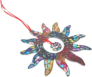 TOPBATHY Acrylic Sun and Moon Celestial Decor Outdoor Wall Art Plaque Sculpture Hanging for Inside Home Outside Decoration...