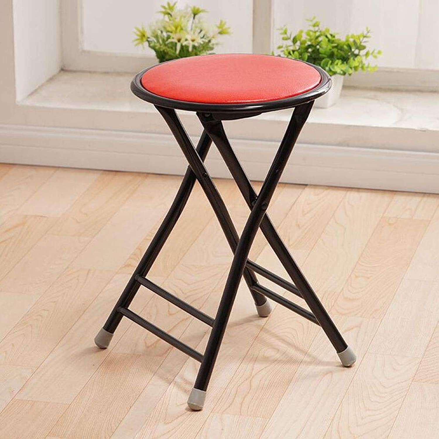Folding Chair, Reinforcement Stool Fashion Simple Stool Home Dining Chair Portable Leisure Small Chair (color   A)