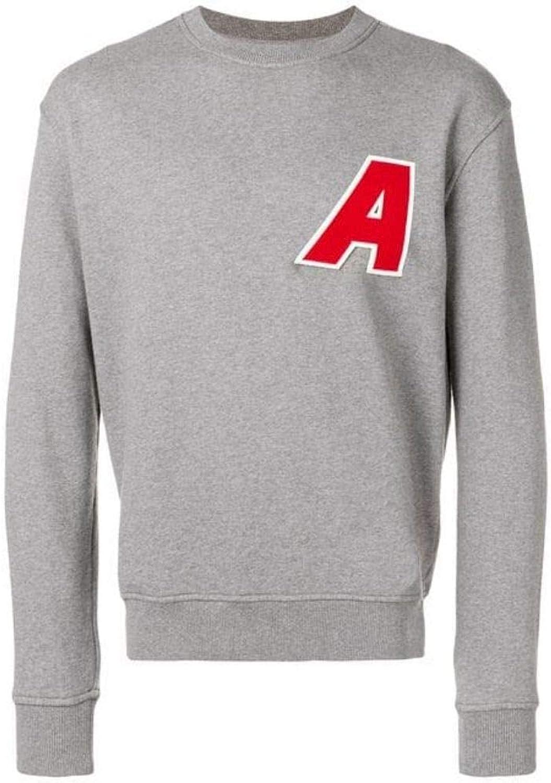 AMI ALEXANDRE MATTIUSSI Men's P19J050710055 Grey Cotton Sweatshirt