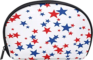 ALAZA Starry Star Half Moon Cosmetic Makeup Toiletry Bag Pouch Travel Handy Purse Organizer Bag for Women Girls
