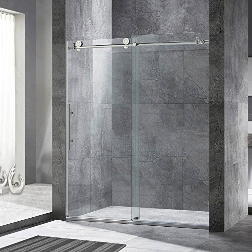 "WOODBRIDGE MBSDC6076-C Frameless Sliding Glass Shower Door | 56""-60""W x 76""H 