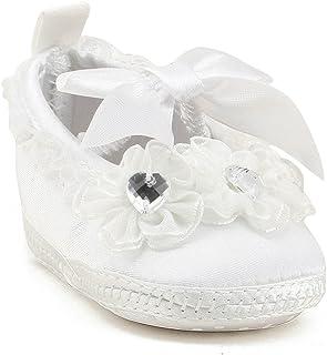Zapatos de niña bebé Niño de Niño Antideslizante Zapatos de Vestir con Cordones