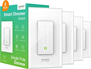Smart Dimmer Switch, WiFi Smart Light Switch Work with...