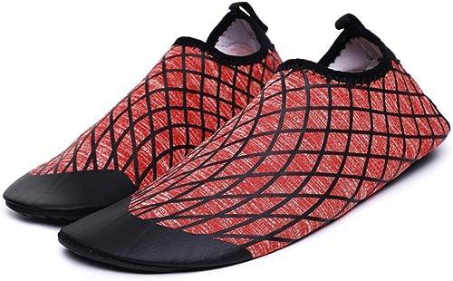 Ailjsx Chaussures d'eau, Chaussures De Plongée à Séchage Rapide pour Hommes Et Femmes Chaussures De Plage D'été Aux Pieds Nus Convient à La Natation 2 Couleurs