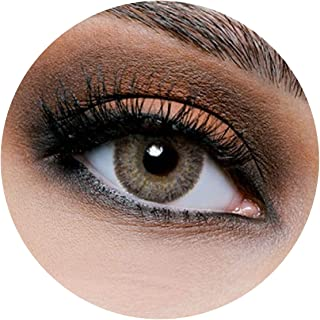 Lareen Crystal Contact Lenses, Unisex Lareen Cosmetic Contact Lenses, 6 Months Disposable, Crystal (Dark Grey Color)