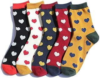 HCZPQJAUI, HCZPQJAUI Impreso Amor Calcetines Damas Jacquard Colorido
