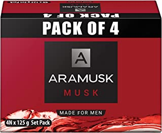 Aramusk Musk Soap 125g(Pack of 4)