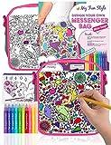 Purple Ladybug Kleine Handtasche für Mädchen - Bemale Deine Eigene Kleine Tasche mit Bunten...