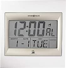 Howard Miller Techtime II Wall Clock 625-236 – Digital Alarm Clock with Radio Control Movement