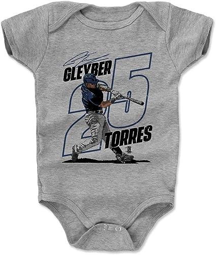 New York Y Baseball Gleyber Torres Slant B Gleyber Torres Kids T-Shirt