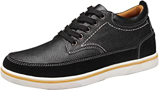 Men's Invisible Increase 2.36in Casual Leather Shoes Lace up Oxfords
