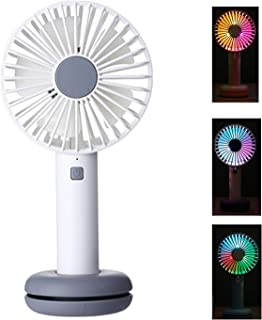 Shentukeji Mini Handheld Fan Portable Desk Electric Fan with Flash Light for Office Room Outdoor Household Traveling USB Rechargeable Battery Operated