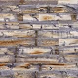 Centennial Woods Reclaimed Wood Planks, Gray/Cinnamon/Brown Wooden Wall Planks, Cody Finish, 60 Square Feet