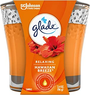 Glade Candle Jar, Air Freshener, Hawaiian Breeze, 3.4 Oz