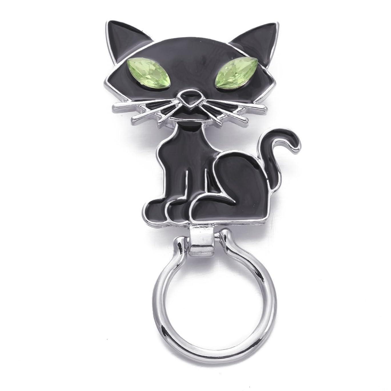 警告テニス裏切りSenFai 猫 アイガラスホルダー メガネホルダー メガネ小物 眼鏡 メガネ掛け アクセサリー ブローチ