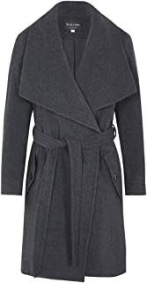 Women`s Winter Wool Cashmere Wrap Coat with Large Collar