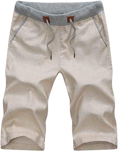 WYX Pantalons pour Hommes Décontracté 1 2 courtes Pantalons De Sport D'été Leisure Loose courtes,E,XXL