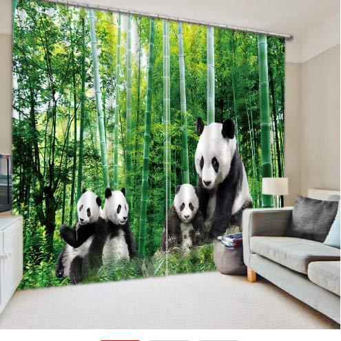 China National Treasure Panda Bambus Vorhang Digital Photo Vorhänge wide350cm high250cm