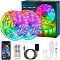 65.6-Feet Bonve Pet RGB Color Changing LED Strip Lights with Remote