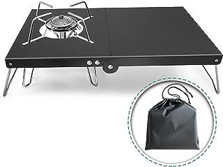 遮熱テーブル 遮熱板 テーブル 一台多役 簡単着脱 折り畳み SOTO ST-310 シングルバーナー用 テーブル 耐高温 アルミ合金製 軽量 4種類バーナー対応 専用収納袋付き