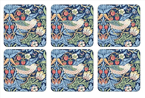 Pimpernel Strawberry Thief Blue Untersetzer 6 Stück (s)