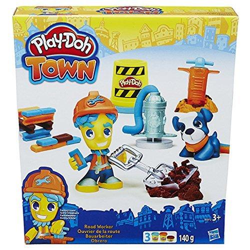 Hasbro B5972 - Play-Doh Town - Figur mit Tierfreund - Bauarbeiter [UK Import]