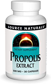Source Naturals Propolis Extract 500 mg Dietary Supplement Produced By Honey Bees - 30 Capsules