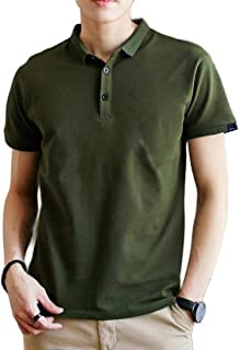 Macondoo Men's Casual Polo Shirt Solid Color Summer Short Sleeve Sport T-Shirts