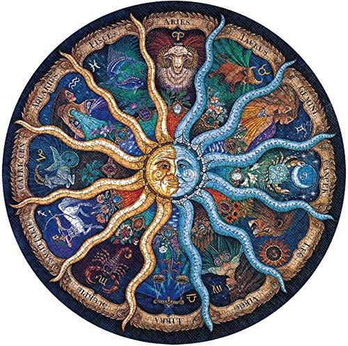 Rompecabezas Circulares,1000 Piezas Redondo Puzzle,Educativo